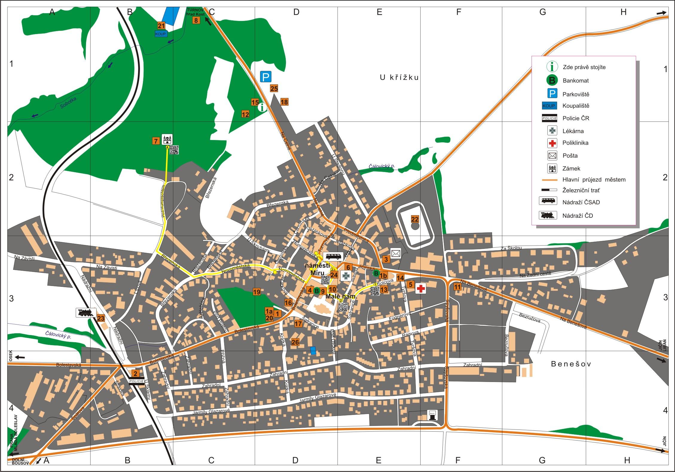 Sobotka Mapa Czechinform